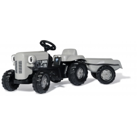 RollyKid Little Grey Fergie Tractor with Trailer - + 2 1/2 years
