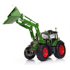 "Fendt 516 Vario w/Front Loader ""new Nature Green"" Tractor Diecast Replica - 1:32 Universal Hobbies"