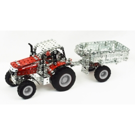 Massey Ferguson 7600 with Trailer (354 parts)