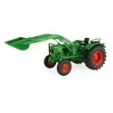 Universal Hobbies 1/32 Scale Deutz hr D60 05 - 2 WD with Front Loader Tractor Diecast Replica UH5254