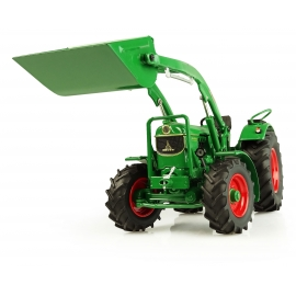 Universal Hobbies 1/32 Scale Deutz-hr D60 05- 4WD with Front Loader and Bucket Tractor Diecast Replica UH5307