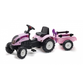 Princess Tractor with Trailer, shovel & rake - +2 years