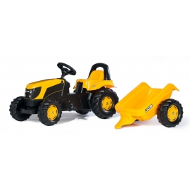 RollyKid JCB Ride-on pedal Tractor with trailer by Rolly Toys - +2.5 years