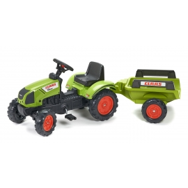 Claas Arion 410 Pedal Tractor with Trailer