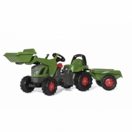Fendt 516 Vario Pedal Tractor with Front Loader and Trailer