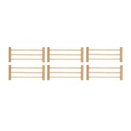 Kids Globe 1:32 Scale Wooden Fences 6 pieces KG610667