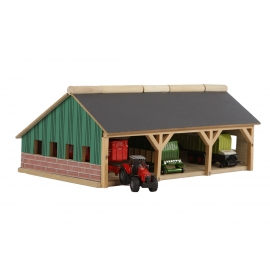 Farm shed for 3 tractors 1:87
