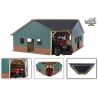 Farm shed corner for 1 tractor