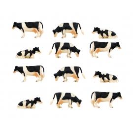 Cows 12 pcs 1:32
