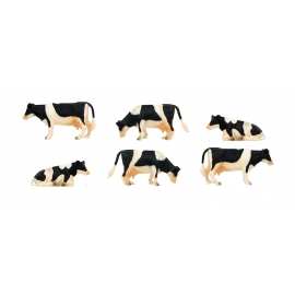 Cows 6pcs scale 1.32
