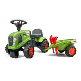 Claas Ride-on Tractor w/trailer, Rake & Shovel - 2 sets of decals