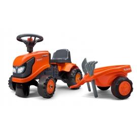 Kubota Push-along Tractor w/trailer, Rake & Shovel - 2 sets of decals
