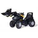 Black Deutz Fahr Agrotron 7250 TTV Ride-on Pedal Tractor w/Front Loader by Rolly toys - +3 years