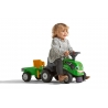Baby Deutz-Fahr ride-on tractor with trailer, rake & shovel