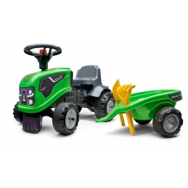 Deutz-Fahr Ride-on tractor with trailer, rake & shovel