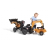 Case CE Pedal backhoe with Rear Excavator and Trailer Included