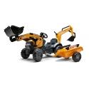 """Case CE Pedal Backhoe w/ Rear Excavator an,d,Tr,""""ailer,0"""""""