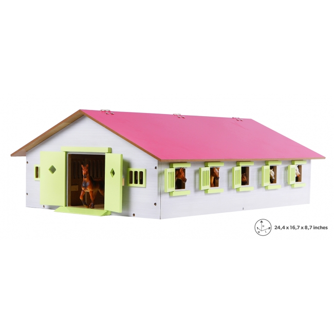 Wooden Horse stable with 9 boxes