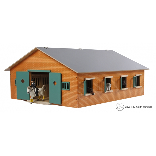 Wooden Horse stable with 7 boxes