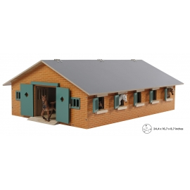 Wood Horse stable with 9 boxes