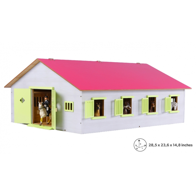 Wood Horse stable with 7 boxes