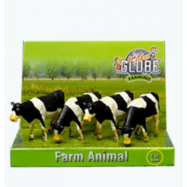 Kids Globe 1:50 Scale Black & White Cows Standing 4 pieces KG571967