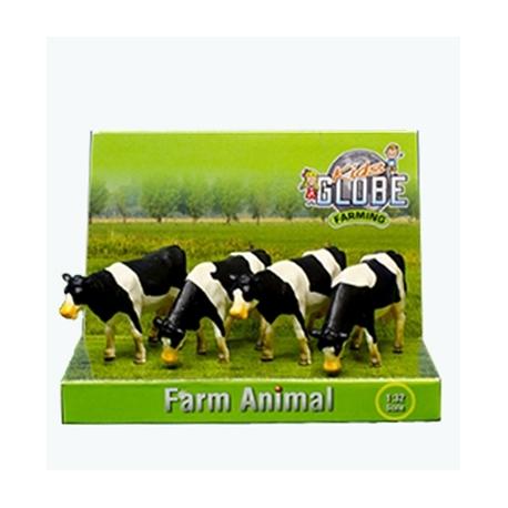 Cows 4pcs Black/White standing