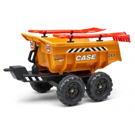 Case CE Twin Axles Maxi Dumper trailer with shovel and rake