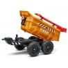 Case CE Maxi tilt trailer with shovel and rake