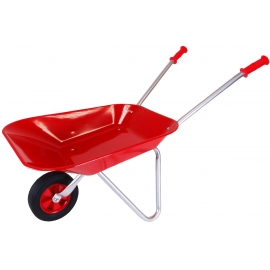 Metal Wheelbarrow with Rubber wheel - Red