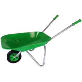 Metal Wheelbarrow with Rubber wheel - Green