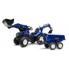 Falk New Holland Pedal Backhoe with Front Loader, Excavator and Maxi dumper trailer, Ride-on +3 years FA3090W